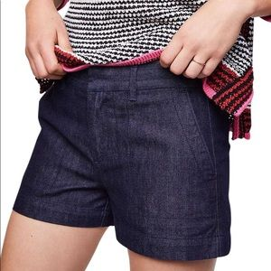 LOFT DARK WASH DENIM SHORTS